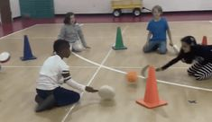 Paddle Defense(named by these students) Strike the ball into another defenders goal Defend your goal using the lollipop only Hold a plank Physical Education Activities, Pe Activities, Elderly Activities, Dementia Activities, Gross Motor Activities, Movement Activities, Team Building Activities, Gross Motor Skills, Health Education