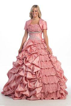 41e1c557ee375 BallGown Strapless Taffeta Floor-length Pink Pick-Ups Quinceanera Dress at  sweetquinceaneradress.com
