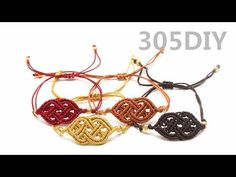 [305DIY]마크라메 오리엔탈 매듭팔찌만들기, macrame Oriental knot bracelets DIY tutorial - YouTube