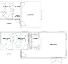 expansion plan for turning a one bath into a two bath