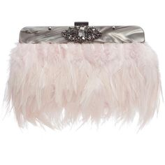 No. 1 Jenny Packham Pink feather clutch bag ❤ liked on Polyvore featuring bags, handbags, clutches, vintage clutches, pink purse, special occasion clutches, special occasion handbags and vintage evening handbags