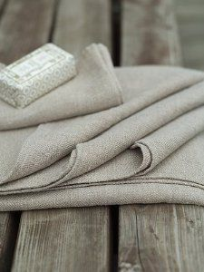 Amazon.com: Natural Linen Bath Towels Set Lara: Home & Kitchen