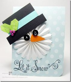 Love this snowman rosette!  What a great sense of color!