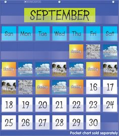 Weather in Photos Pocket Chart Add-ons