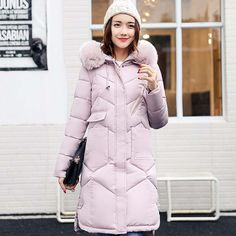 Women jackets Fur Hooded Jacket for women Padded Cotton Down Winter Coat women Long Parka Womens Coats Clothing Plus size Like if you remember Visit our store