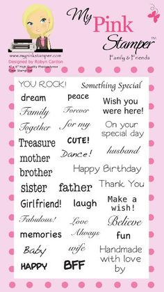 My Pink Stamper Family & Friends Stamp Set