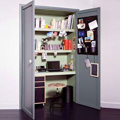 Installer votre bureau dans un placard pour gagner de la place / Install your desk in a cupboard to win of the place