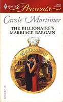 The Billionaire's Marriage Bargain by Carole Mortimer