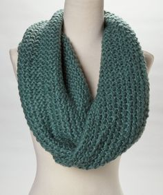 Teal Knit Infinity Scarf | Daily deals for moms, babies and kids