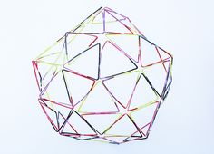 Drinking Straw Structures- Easy Dome Could make necklaces? Straw Activities, Girl Scout Activities, Activities For Kids, Activity Ideas, Summer Crafts For Kids, Diy For Kids, Straw Sculpture, Babble Dabble Do, Stem Science