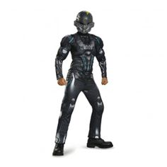 He can transform into a super soldier with a Halo Spartan Locke Muscle Costume for boys. This Halo Spartan Locke Muscle Costume includes a padded jumpsuit and a Halo Spartan Locke mask. Toddler Costumes, Boy Costumes, Adult Costumes, Cosplay Costumes, Costume Ideas, Children Costumes, Animal Costumes, Halloween Costume Shop, Halloween Cosplay