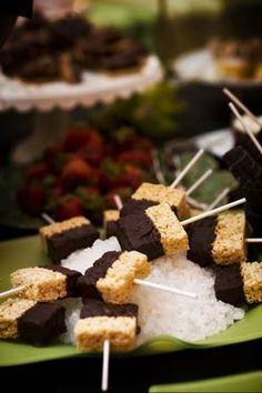 Chocolate Coated Rice Krispie Treats on a Stick