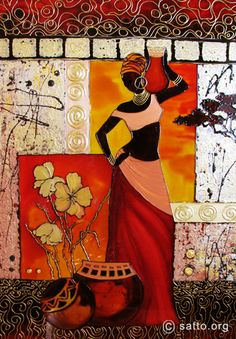 African Art gallery for African Culture artwork, abstract art, contemporary art daily, fine art, paintings for sale and modern art African Art Paintings, African Artwork, Afrique Art, African Theme, Afro Art, Black Women Art, Black Art, African American Art, Mural Art