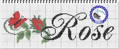 Cross Stitch, Cross Stitch Letters, Embroidered Towels, Xmas Cross Stitch, Boy Names, Female Names, Names, Mosaics, Roses