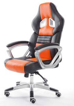 #officechair #fauxleather #fauxleatherchair #orangeandblack