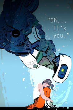 """mayticks-art: """"We had very limited internet all this week and so played through Portal 1 and 2 with the wifey . Having some major GLaDOS/ Chell feels right now ! Portal Art, Aperture Science, You Monster, Fanart, Marvel, Indie Games, Best Games, Art Blog, Concept Art"""