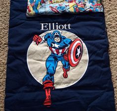 POTTERY BARN KIDS CAPTAIN AMERICA SLEEPING BAG *ELLIOTT* NEW SUPER HERO MARVEL #PotteryBarnKids