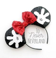 Mickey Mouse Headband, Mickey Mouse Gloves, Disney Headbands, Ear Headbands, Diy Disney Ears, Disney Mickey Ears, Disney Diy, Disney Crafts, Mini Mouse Ears