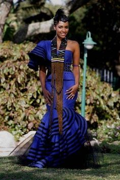 Browse our beautiful collection of south african xhosa traditional dresses Browse our selection of south african xhosa traditional dresses! African Inspired Fashion, African Print Fashion, Africa Fashion, Ethnic Fashion, African Prints, African Dresses For Women, African Attire, African Wear, African Women
