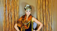 scarves that tell a story, woven scarf with braid by Amber Kane, amberkane.com $250.00