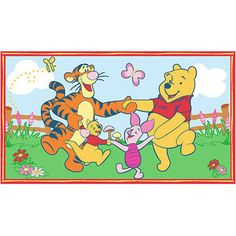 "Disney - Winnie the Pooh Dance 30"" x 48"" Accent Rug"