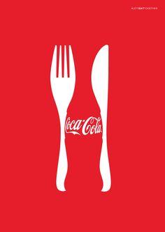 Case: Coke & Meals スロバキアの首都ブラチスラバで実施されたプリント広告事例をご紹介。クライアントはCoca-Cola。  「食事と共に、コーラを」というメッセージを訴求するた