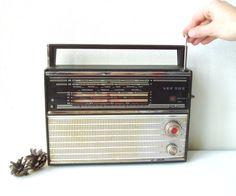 Russian Radio VEF 202 Vintage Portable Soviet by MerilinsRetro