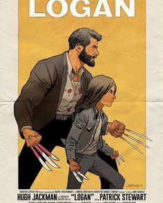 """Logan film poster, Logan Wolverine and Laura Kinney X23 - Dan Mora Chaves (@dan_mora_c) on Instagram: """"#wolverine #logan #x23"""""""