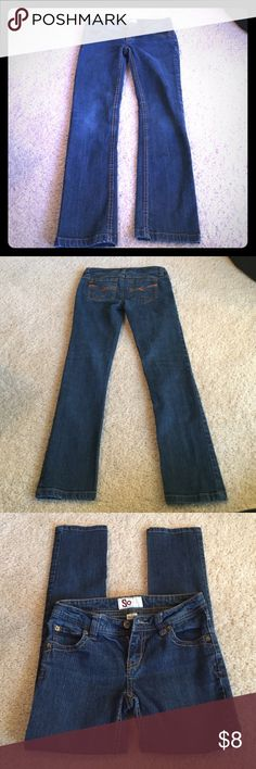 🎯3/$15Juniors SO jeans size 0 Very cute Jeans juniors size 0 excellent condition SO Jeans Skinny