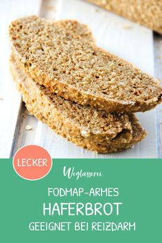 Juicy FODMAPâ poor oat bread - FODMAP-poor and juicy bread made from oats. You can find even more healthy low-FODMAP recipes in Ge - Healthy Dessert Recipes, Vegan Desserts, Easy Desserts, Cake Recipes, Vegan Recipes, How To Eat Paleo, How To Make Bread, Food Intolerance, Fodmap Recipes