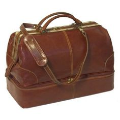 Floto Positano Grande Vecchio Brown Leather Luggage Travel Bag