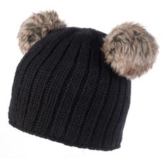 d5a618f78ebc7 My winter hat- cute and functional. Double Pom Beanie available in white