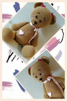 Panda beer krissie doll. Catania 179, bruin transparant oogjes 8 mm