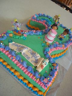 Dora and Diego 2nd birthday cake