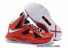 Discounts Black Red White Style 541100-611 Nike Lebron X 10