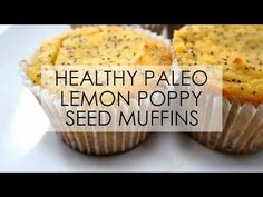 Healthy Lemon Poppy Seed Muffins |