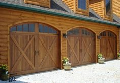 I Just Love Garage Doors That Look Like Barn Wooden Carriage