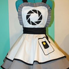 GLaDOS Portal Aperture Labs Cosplay Pinafore Dress Accessory | Darling Army