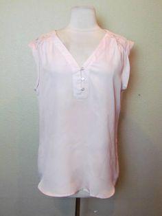 -NWOT NEW YORK & COMPANY LACE BACK FOLDED SLEEVE TOP, sz M- #NEWYORKCOMPANY #shirt
