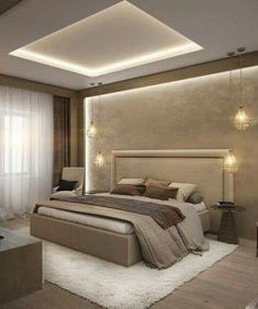 Unordinary Ceiling Design Ideas For Your Bedroom – Schlafzimmer Ideen House Ceiling Design, Ceiling Design Living Room, Bedroom False Ceiling Design, Master Bedroom Interior, Bedroom Closet Design, Modern Master Bedroom, Bedroom Furniture Design, Bedroom Ideas, Modern Ceiling Design