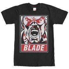 Marvel Blade Poster Black T-Shirt