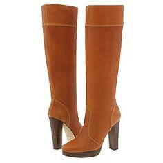 Jessica Simpson Shoes Michael Kors McGraw boots in Cognac Wax Calf