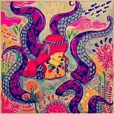 Diela Maharani, Illustration