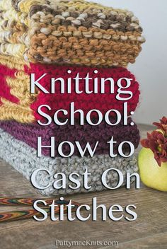 The first step in learning how to knit is learning how to Cast On the Stitches. This post shares text and video to explain the Knitted Cast on Method.
