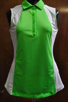 Sleeveless Polo with Mesh Color Blocking