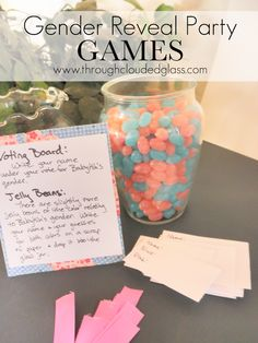 Gender Reveal Party Games | Through Clouded Glass