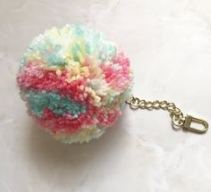 A personal favorite from my Etsy shop https://www.etsy.com/listing/566128301/jumbo-tuti-fruti-pom-pom-with-extended
