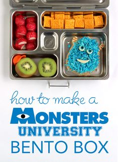 How to Make a Monsters University Bento Box -- a step-by-step tutorial #MonstersU
