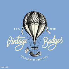 Vintage balloon logo design vector   free image by rawpixel.com