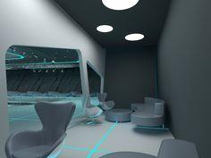 tron style club (interior) with Aleksandra Gromova by Nikita Voronov at Coroflot.com